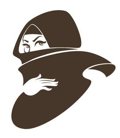 simbolo de la mujer: la mujer musulmana, ilustraci�n vectorial