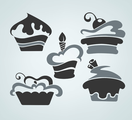 Vector collection of cakes images Vector