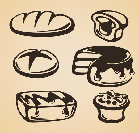 vector emblems for your bakery Vector