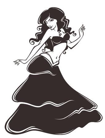 dress sketch: vector illustration Illustration