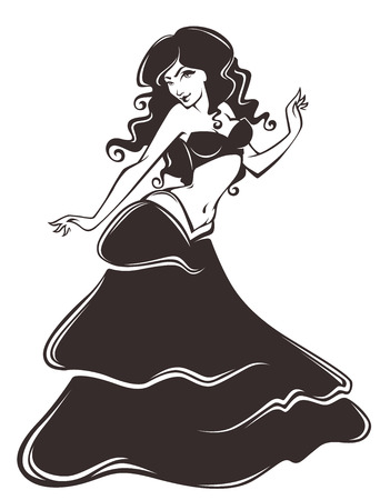 bellydance: vector illustration Illustration