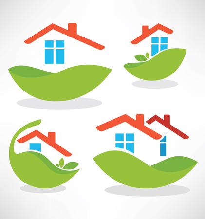 simple house: vector icons collection