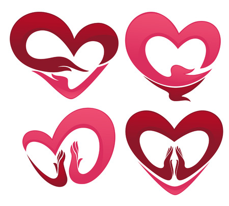 heard: vector collection of love concepts
