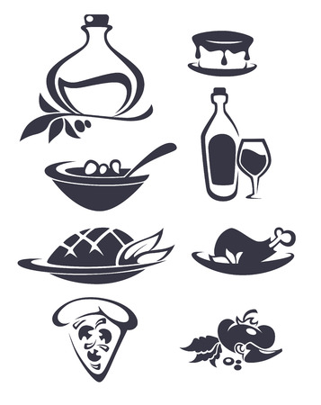 in common: common food collection Illustration