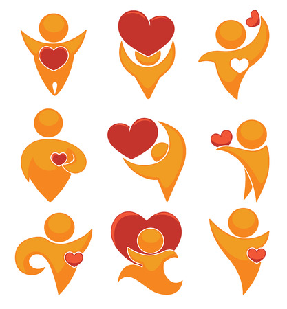 active life: vector collection of love symbols Illustration