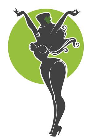 leprechaun background: vector greeting card