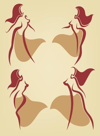 bellydance: vector dancing collection