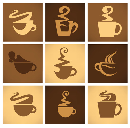 coffee and tea emblems Vector