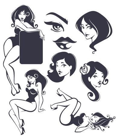 bocetos de personas: cuerpos y rostros colecci�n