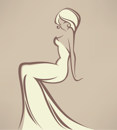 evening dress: wedding vector illustration