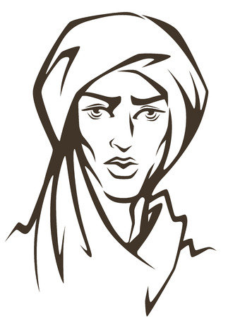 sultan: handsome and young arabian man Illustration