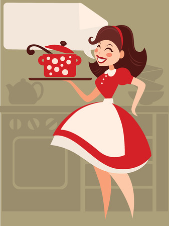 vintage dress: Home made cooking in retro style