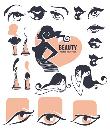blush: beauty and makeup collection Illustration
