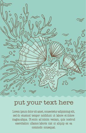 handdrawn underwater background Vector