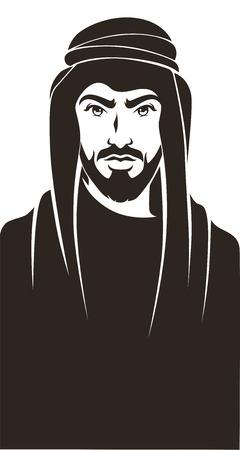 el hombre árabe guapo, vector de fondo