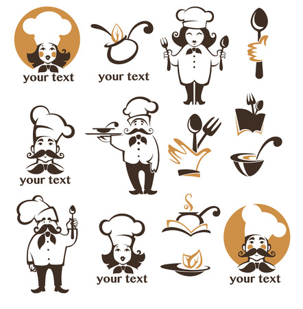 all for food, vector icon, symbols and logo collection Illustration