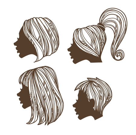 vector images: vector beauty hand drawn images