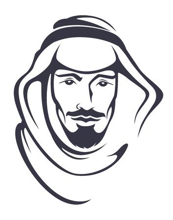 el hombre árabe guapo Vectores