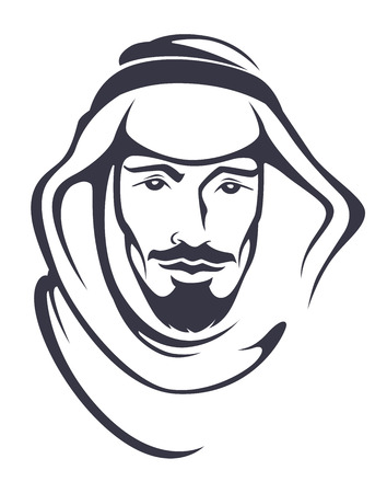 arabian: handsome arabian man