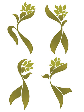 forest products: eco beauty, vector abstract green people Illustration