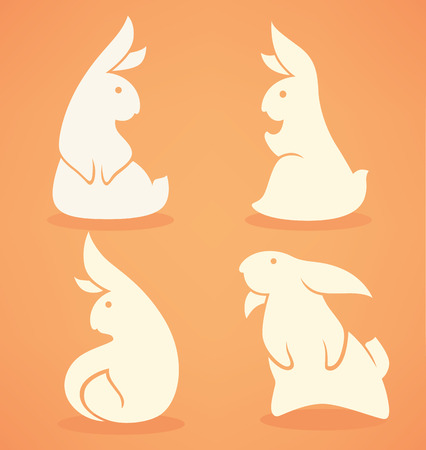 rabbit ears: funny banny, vector rabbit collection