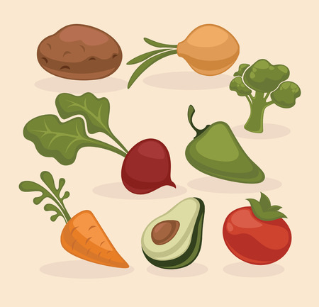 batata: vector collection of vegetables images