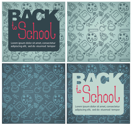 hand drawn cartoon: back to school backgrounds