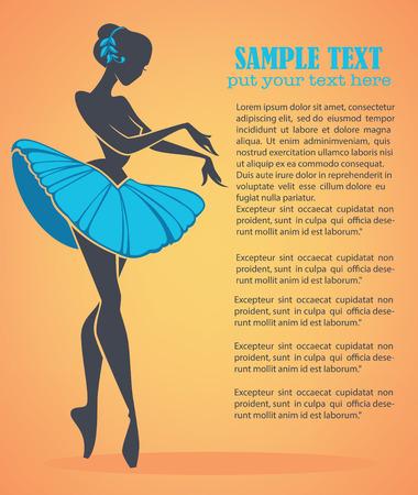 sillhouette: silhouette of beauty ballet danser, vector background