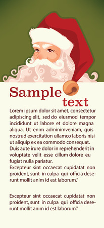 nicholas: Santa Claus image in cartoon style. Vector illustration for greeting Christmas card. Illustration