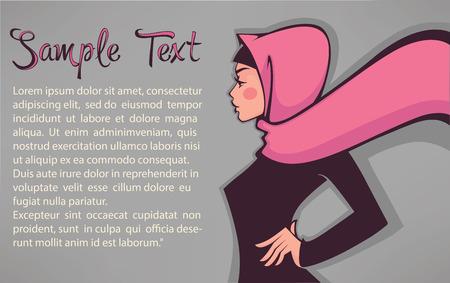 hijab: beautiful turkish arabian girl banner