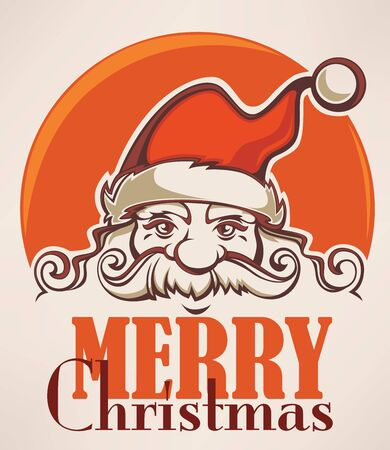 clip art santa claus: Santa Claus image in cartoon style. Vector illustration for greeting Christmas card. Illustration