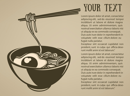 the best noodle illustration Illustration