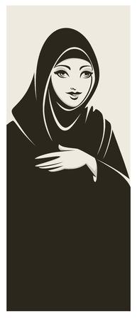 hijab: hijab style, beautiful arabic muslim woman