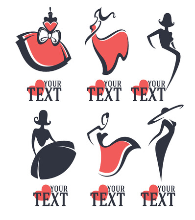 moda: moda ve güzellik logosu ve amblem koleksiyon