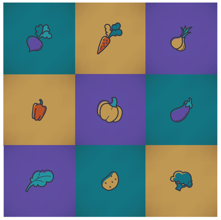batata: vector collection of vegetables images in doodle style Illustration