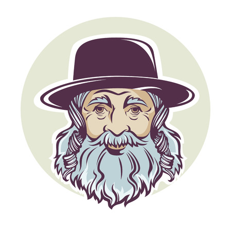 ユダヤ人の老人、ベクトルの肖像やアバター