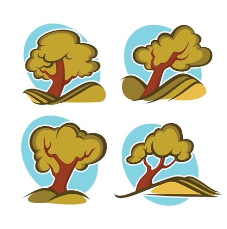 sky brunch: vector set of ecology and nature, signs and icons