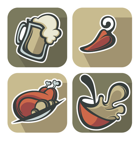 fry: common food for your menu icons and emblems