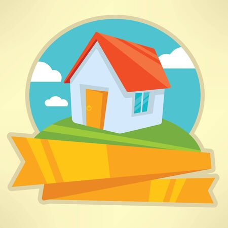 holiday villa: my little home emblem