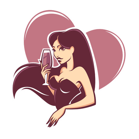 drink me: drink with me,vector commercial background with images of drink and girl image