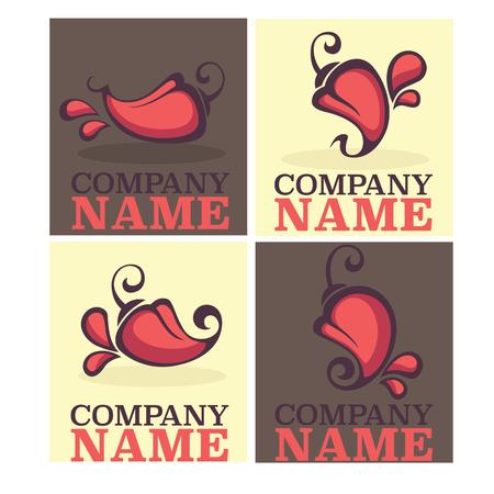 chili pepper: Hot chili pepper logo, icons and emblems