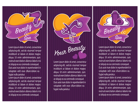 hairy girl: banner, flyer, card and promotional for beauty, spa and hairdresser salon