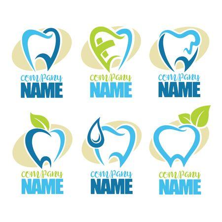 Vektor-Sammlung von gesunden Zähnen, Zahn Symbole Vektorgrafik