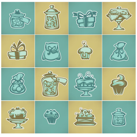 jellybean: object, stickers or icons for your chocolate shop Illustration