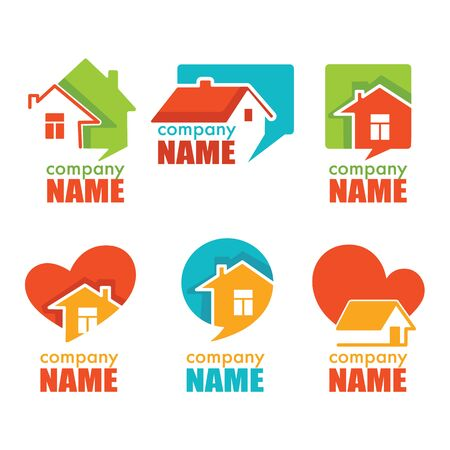 Home house and real estate logo symbol and emblem collection