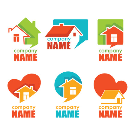 logo home: Home house and real estate logo symbol and emblem collection Illustration
