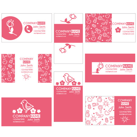 buiseness: beauty, lovely, cosmetics buiseness card templates Illustration