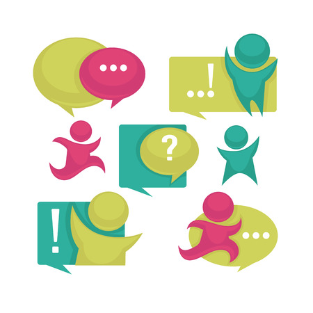 signs and symbols: collection of talking, speaking and communication icons, signs and symbols