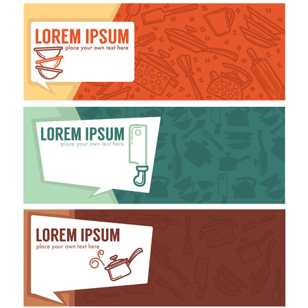 home made: home made cooking banners collection Illustration