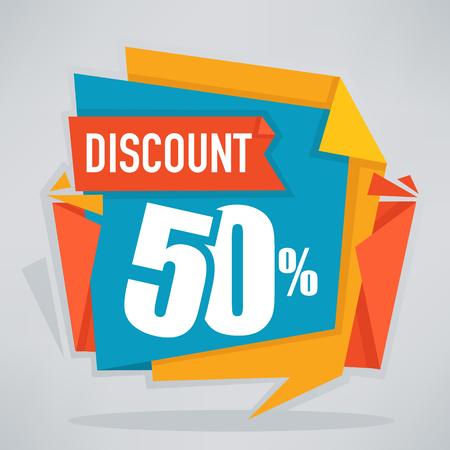 discount banner: great discount, vector sale banner template design